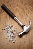 Hammer & nails Royalty Free Stock Photography