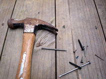 Hammer and nails 5 Stock Image