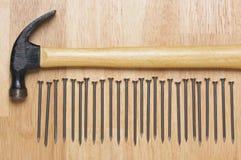 Hammer and Nails Abstract Royalty Free Stock Photos