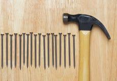 Hammer and Nails Abstract Royalty Free Stock Image