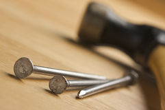 Hammer and Nails Abstract Royalty Free Stock Image