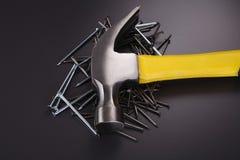 Hammer and nails Royalty Free Stock Image