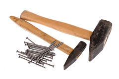 Hammer and nails Royalty Free Stock Images