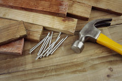 Hammer and nails Stock Image