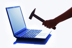 Hammer and notebook Royalty Free Stock Images
