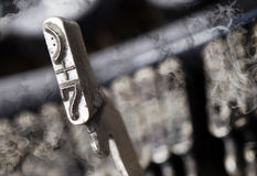 7 hammer - old manual typewriter - mystery smoke Stock Photography