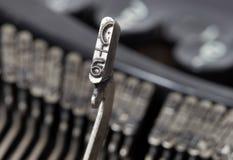 6 hammer - old manual typewriter Royalty Free Stock Image