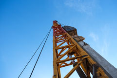 Hammer pile driver Stock Images