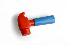 Hammer, a plastic toy Royalty Free Stock Photo