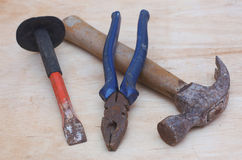 hammer, pliers, and chisels Royalty Free Stock Photography