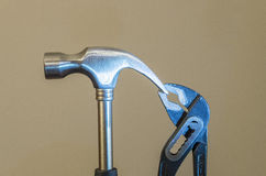 Hammer and pliers royalty free stock photography