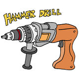 Hammer power drill Stock Photos