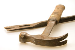 Hammer and Pry Bar Stock Images
