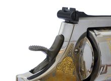 Hammer and rear sight Royalty Free Stock Image