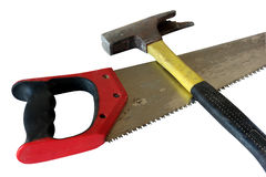 Hammer and saw Stock Photography