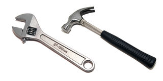 Hammer and screwdriver Royalty Free Stock Photos