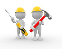 Hammer and screwdriver Royalty Free Stock Images