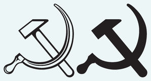 Hammer and sickle Stock Images