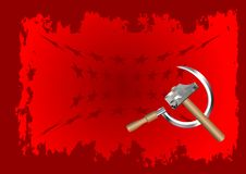 Hammer and sickle Royalty Free Stock Photo