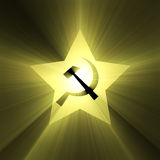 Hammer and sickle sign Royalty Free Stock Image