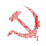 Hammer and sickle word cloud Royalty Free Stock Images