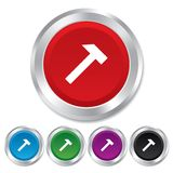 Hammer sign icon. Repair service symbol. Stock Photos