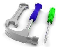 Hammer, skrewdriver Stock Image
