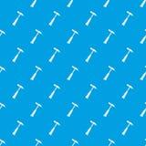 Hammer slag of welder pattern seamless blue Royalty Free Stock Image
