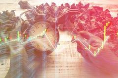 Hammer smash alarmclock business finance concept Stock Images