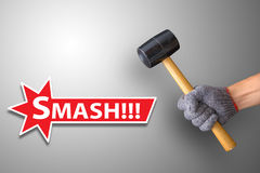 Hammer smash Royalty Free Stock Photo