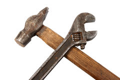 Hammer and spanner. Royalty Free Stock Photography