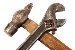 Hammer and spanner. Stock Photo