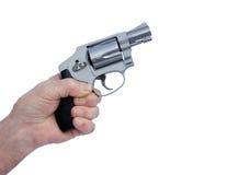 Hammer-less stainless pistol Stock Photography
