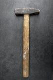 Hammer on table Stock Photo