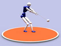 Hammer Thrower. 3d Hammer Thrower royalty free illustration