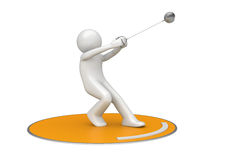 Hammer throwing Royalty Free Stock Photo