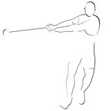 Hammer throwing-1. Abstract image of the sportsman. Illustration on white background Stock Image