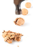 Hammer to crack nuts I Royalty Free Stock Image