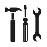 Hammer turnscrew tools icon Stock Images