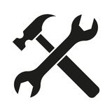 Hammer turnscrew tools icon Royalty Free Stock Photo