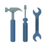 Hammer turnscrew tools icon royalty free illustration