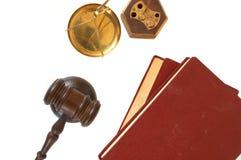 Hammer und Bücher Lizenzfreies Stockfoto