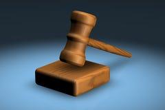 Hammer und Block Lizenzfreies Stockfoto