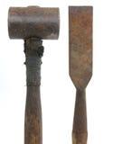 Hammer und Meißel Lizenzfreie Stockfotografie