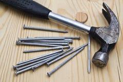 Hammer und Nägel stock abbildung