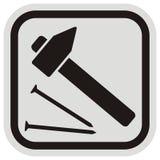 Hammer und nagel, Rahmen Lizenzfreies Stockfoto