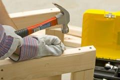 Hammer und Schraube Stockbild