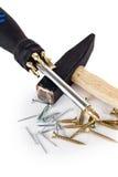 Hammer und Schraubendreher Lizenzfreies Stockfoto