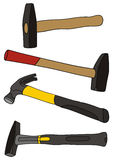 Hammer. Vector drawing of the hammers and ax Stock Image