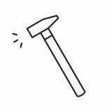Hammer vector icon Royalty Free Stock Photos